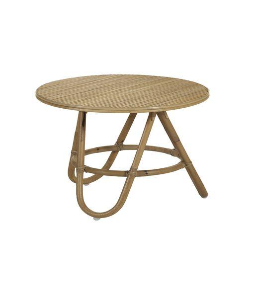 DIABOLO Table basse en rotin gigogne