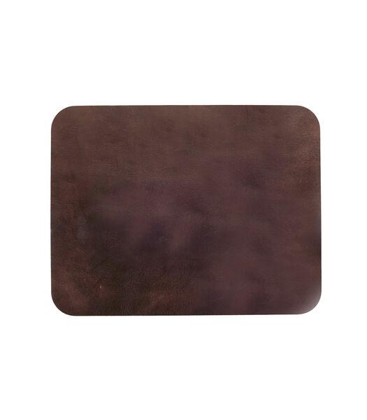 ELLIS onderlegger rechthoek donker bruin