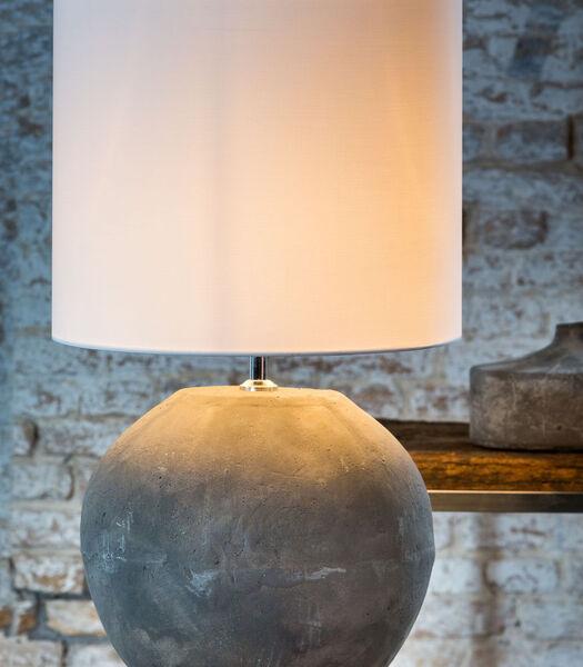 Lampenkap cilinder POLYCOTTON - 50-50-38cm - wit