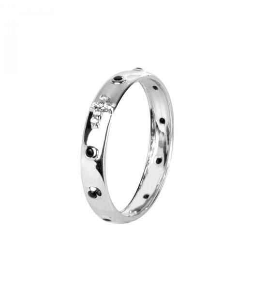 DANDY Ring Witgoud 750