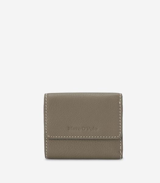 Combi-portemonnee van generfd rundleer