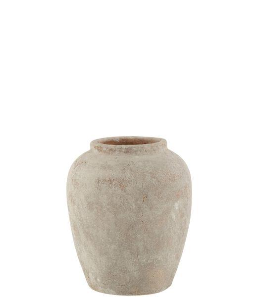 Vase Irregulier Boule Ceramique Blanc