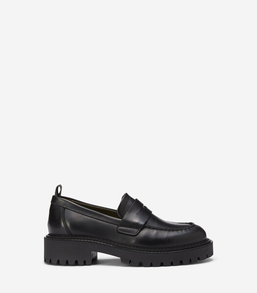 Pennyloafers met bulky zool
