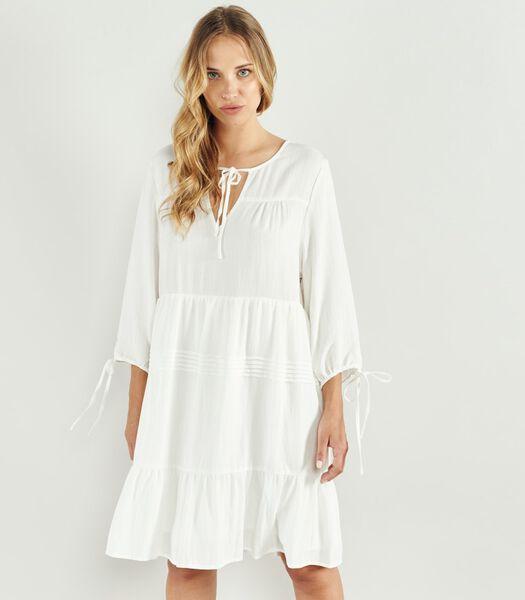 V-hals jurk Rok met ruches ALBERTINO