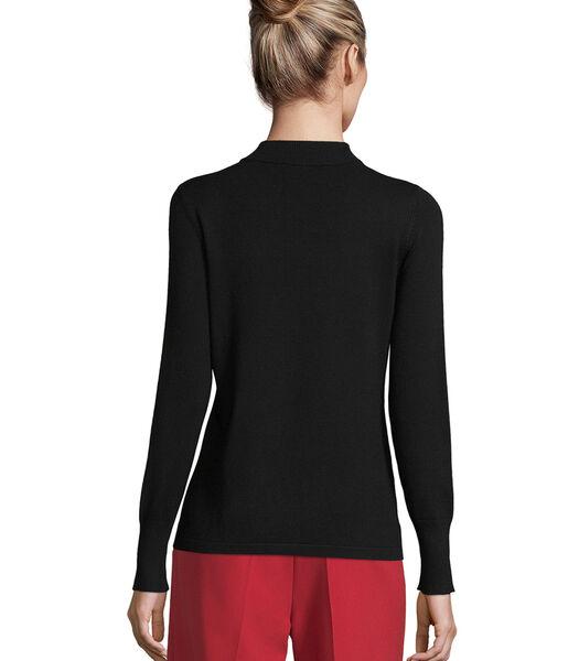 Fijngebreide trui met opstaande kraag