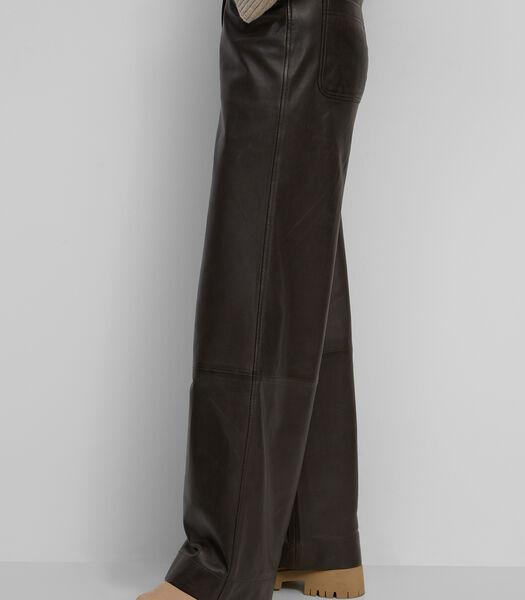 Leren broek van zacht lamsleer