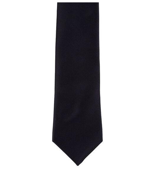 Cravate classique lisse unie en soie 6 cm