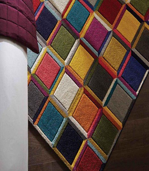 Designer en kleurrijk vloerkleed WHIRL