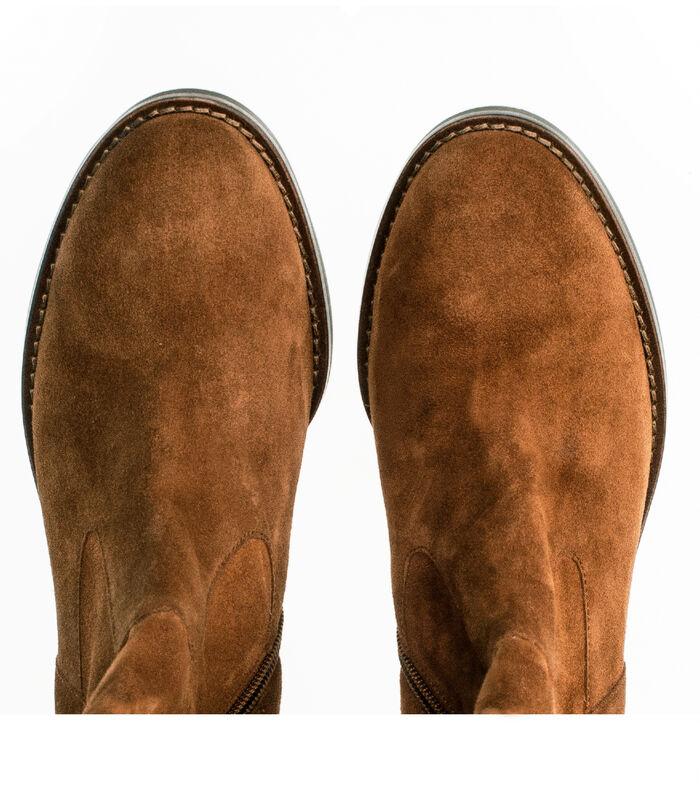 Laarzen blokhak/gegalvaniseerd effect suède image number 3