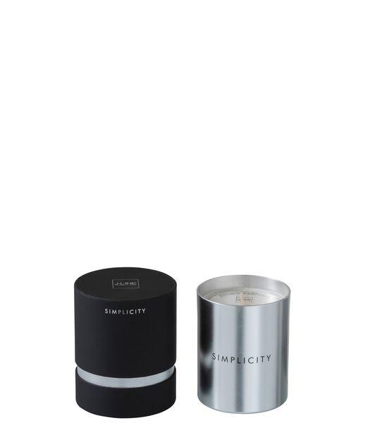 Geurkaars Simplicity Wax Zwart/Zilver-70U