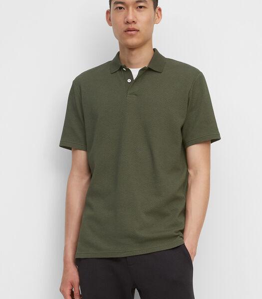Poloshirt met korte mouwen regular met fijne structuur