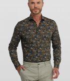 Poplin overhemd met bloemenprint image number 0