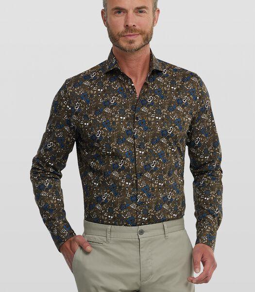 Poplin overhemd met bloemenprint