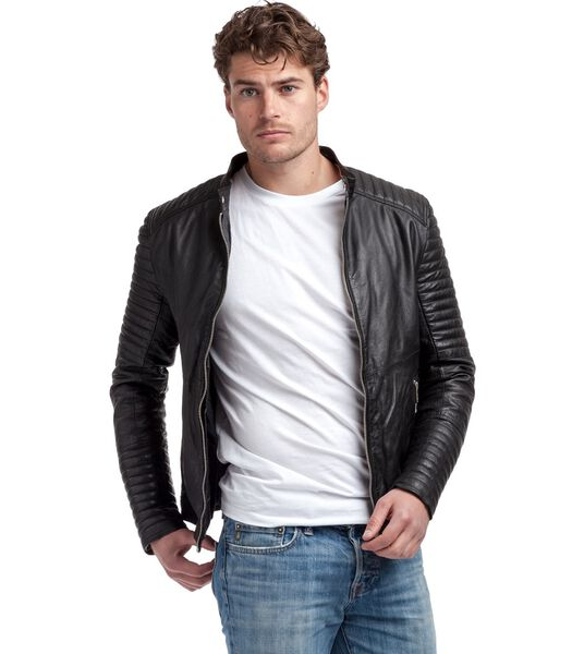 EMERINO Blouson style motard  en cuir