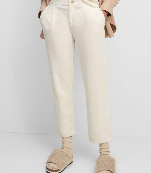 Jersey corduroy broek van een elastische katoenmix