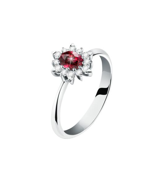 PASSIONE Ring Witgoud 750