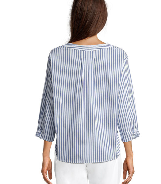 Gestreepte blouse met 3/4-mouw