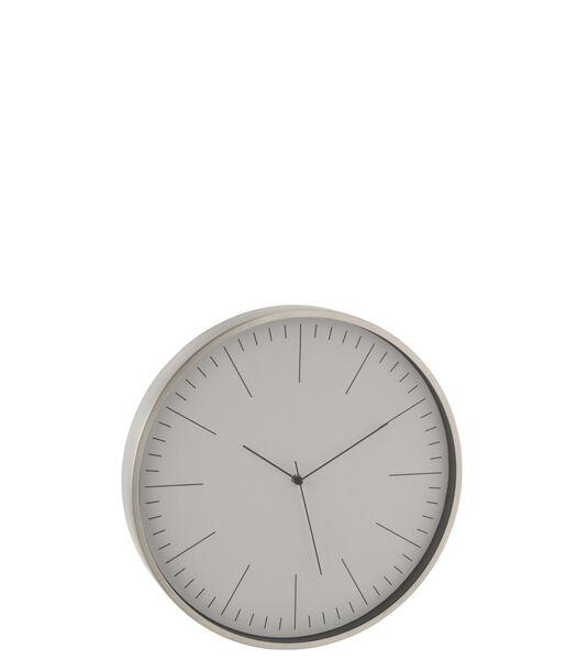 Horloge Gerbert Aluminium Gris
