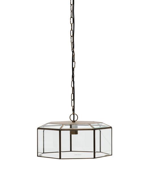 Lampe suspendue en verre français or