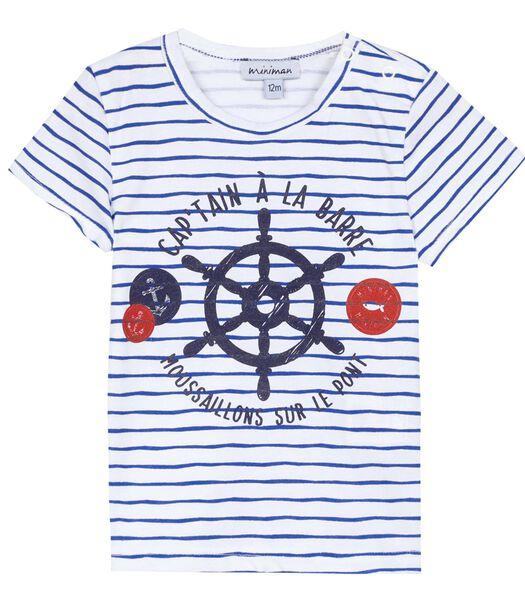 Gestreepte T-shirt met korte mouwen