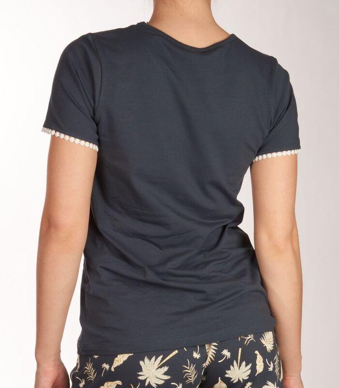 T-shirt ronde hals palm tree sleep d-44 image number 3