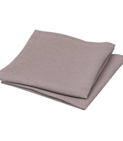 Set van 2 waterafstotende linnen servetten