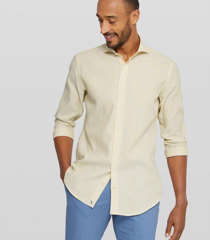 Washed overhemd met streepdessin image number 0