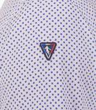 Overhemd in popeline met print wit image number 4