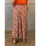 Elegante enkellange rok met felle bloemenprint image number 1
