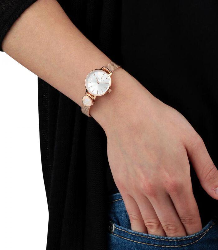 Analoog horloge messing, staal, PVD roségoud SENSAZIONI image number 1