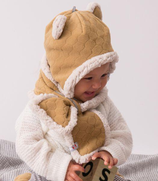 Bonnet en polaire - ourson