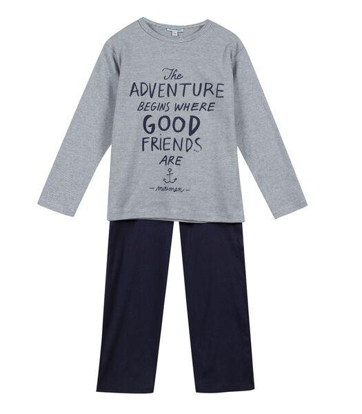 Pyjama manches longues haut avec motif devant
