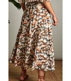 Vrouwelijke rok in een trendy safari print image number 1