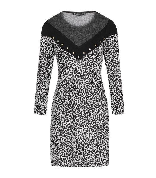 Winter luipaard truitje jurk AURORE