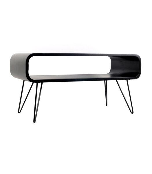 Metro Coffee Table noir/ pieds noir