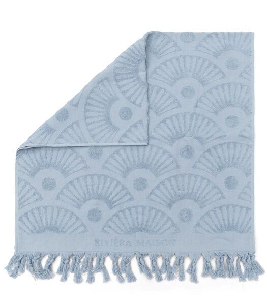 Serviette de bain RM Wave bleu clair 140x70