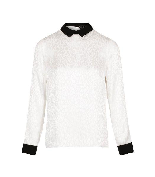 Chique blouse met hoge kraag MILLER