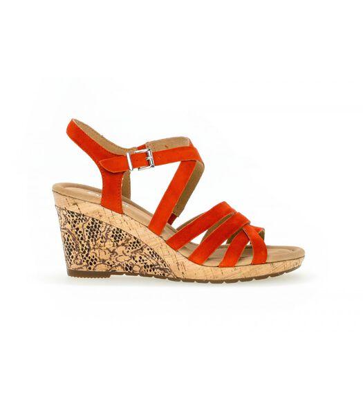 Sandalen met sleehak met suede bovenlaag