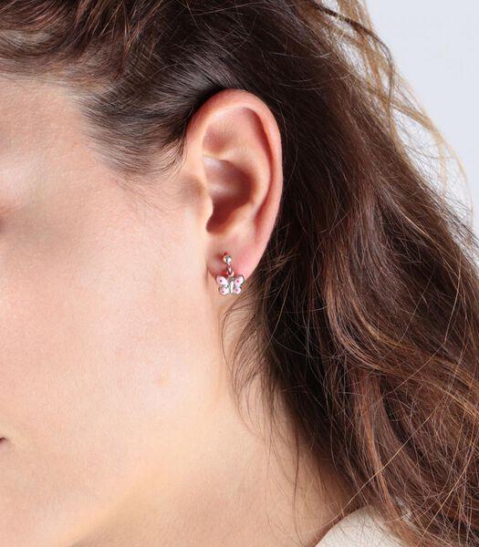B-BABY Boucles d'oreilles Argent Rhodié