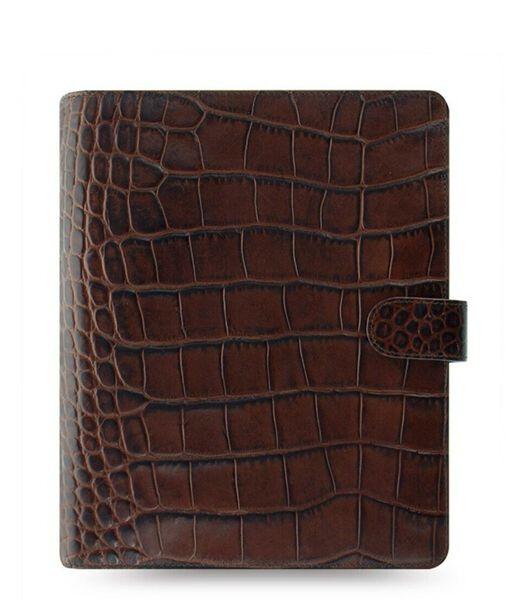 Organiser A5 Classic Croc Chestnut