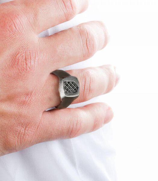Ring in staal, kristallen NOBILE