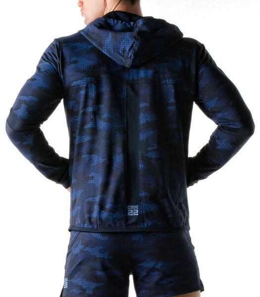 Hooded jack Urban Camo navy