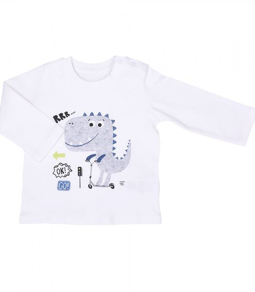2-delige biokatoenen babypyjama, DINO TRAFIC