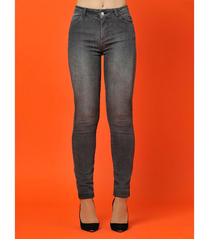 Jeans slim taille haute STREET image number 4