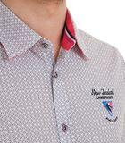 Overhemd in popeline met lange mouwen en motief image number 3