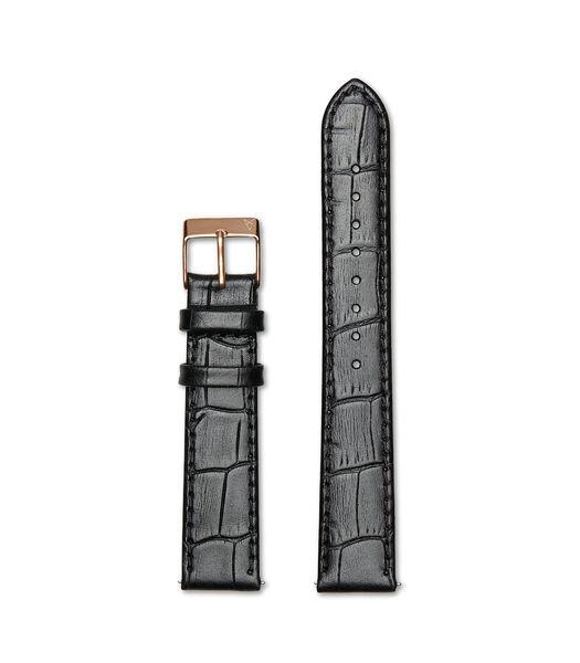 Elite 35.5 Horlogeband zwart R18R1CBK