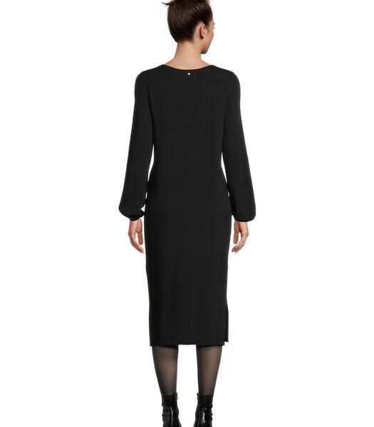 Gebreide jurk met structuur