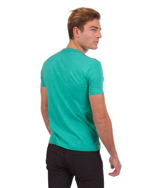 T-shirt gechineerd groen