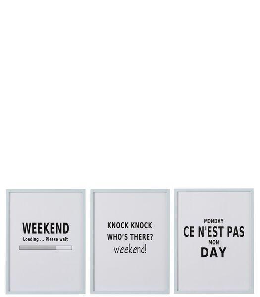 Plaque Textes Bois Blanc Assortiment De 3