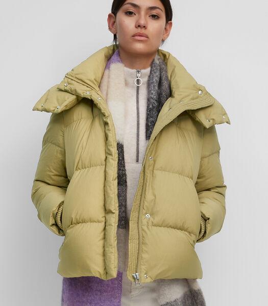 Gewatteerde donzen jas met afneembare capuchon
